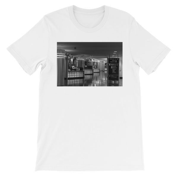 Ronald Reagan National Airport, Terminal A in Washington, DC - Carla Durham - Carla in the City - short sleeve unisex t-shirt, white