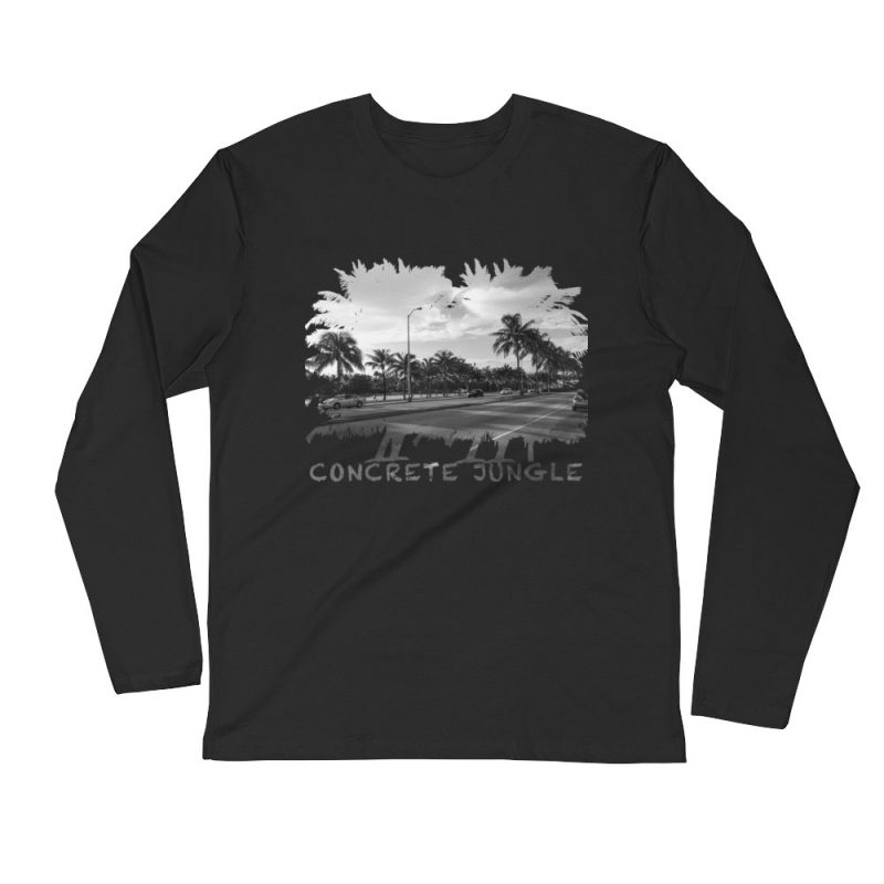 Concrete Jungle - Miami Beach, Florida - Carla Durham, travel photographer - Carla in the City - Carla Durham - long sleeve t-shirt, black